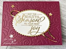 Z merry merlot merry xmas card