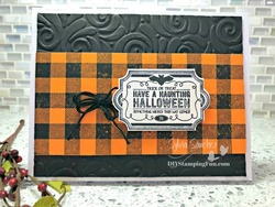 Z haunting halloween card