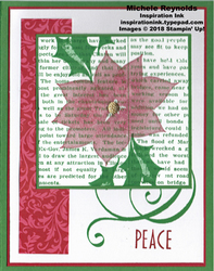 Stylish christmas newsprint poinsettia watermark