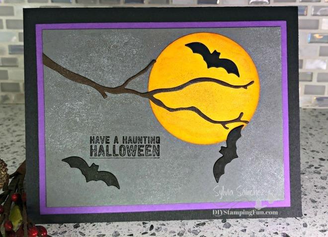 Z halloween bats card