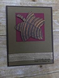 Fall leaf on merry merlot