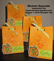 Seasonal chums pumpkin spice treat bags