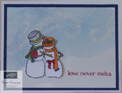 Spirited snowmen in love