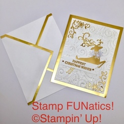 Dashing deer with gold foil