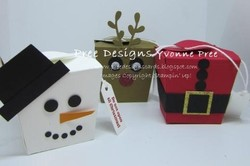 Takeout boxes   christmas characters