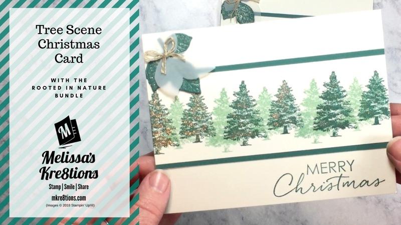 Tree scene christmas card