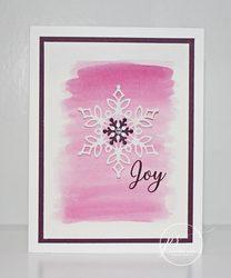 Snow is glistening joy