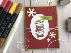 Joyful elves card