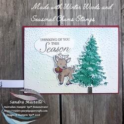 Winter woods christmas card 01