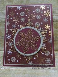 Snowflake in merry merlot