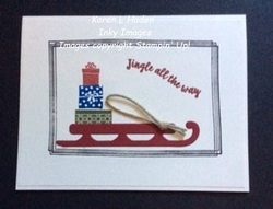 Jingle all the way card