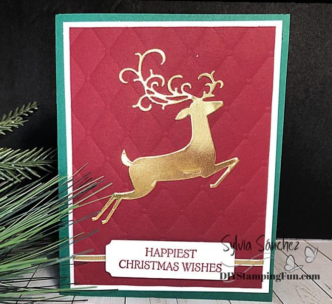 Z cherry cobbler dashing deer card