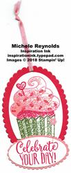 Hello cupcake red velvet cupcake tag watermark