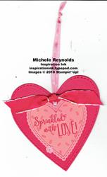 Hello cupcake sprinkles heart tag watermark