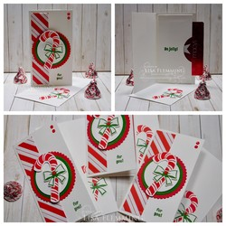Candy cane season gift card holders