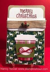 Coffee gift card holder 1