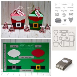 Takeout treats santa and elf treat boxes