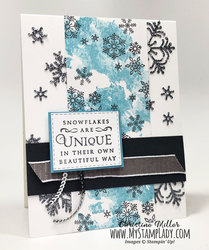 Silver snowflake front side