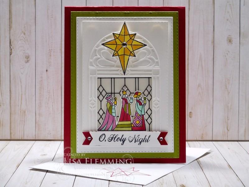 Illuminated christmas card