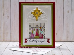 Illuminated christmas card