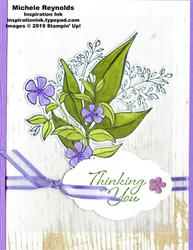 Wonderful romance vellum backed bouquet watermark