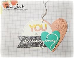 Be mine stitched dies tag serene stamper