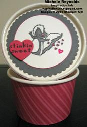 Hey love skunk sweet treat cup