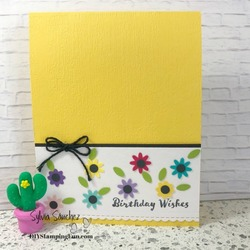 Z yellow bitty punch card