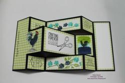 Home to roost trifold shutter card