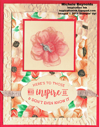 Painted seasons inspiring flower watermark