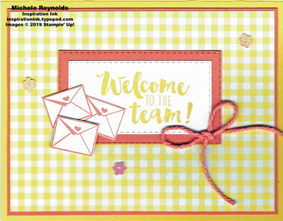 Stamping your way to the top welcome letters watermark
