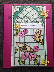 Stained glass window   easter   card hop on 03 20 19