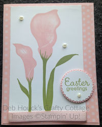 Easter lily   card hop 03 20 19