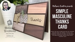 Simple masculine thanks card