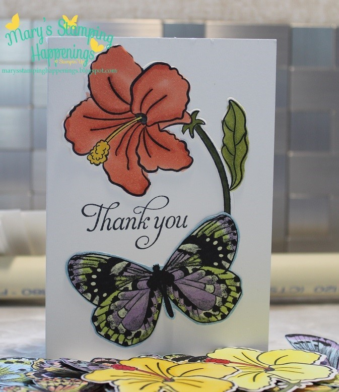 Botanical butterfly dsp humming along note card 1a