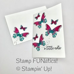 Butterfly gala notecard and envelope