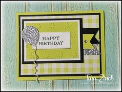 Birthday card serene stamper tina zinck