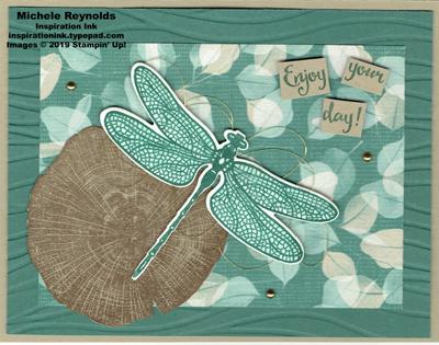 Dragonfly dreams leafy pond watermark