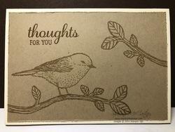 0419 simple stamping bird