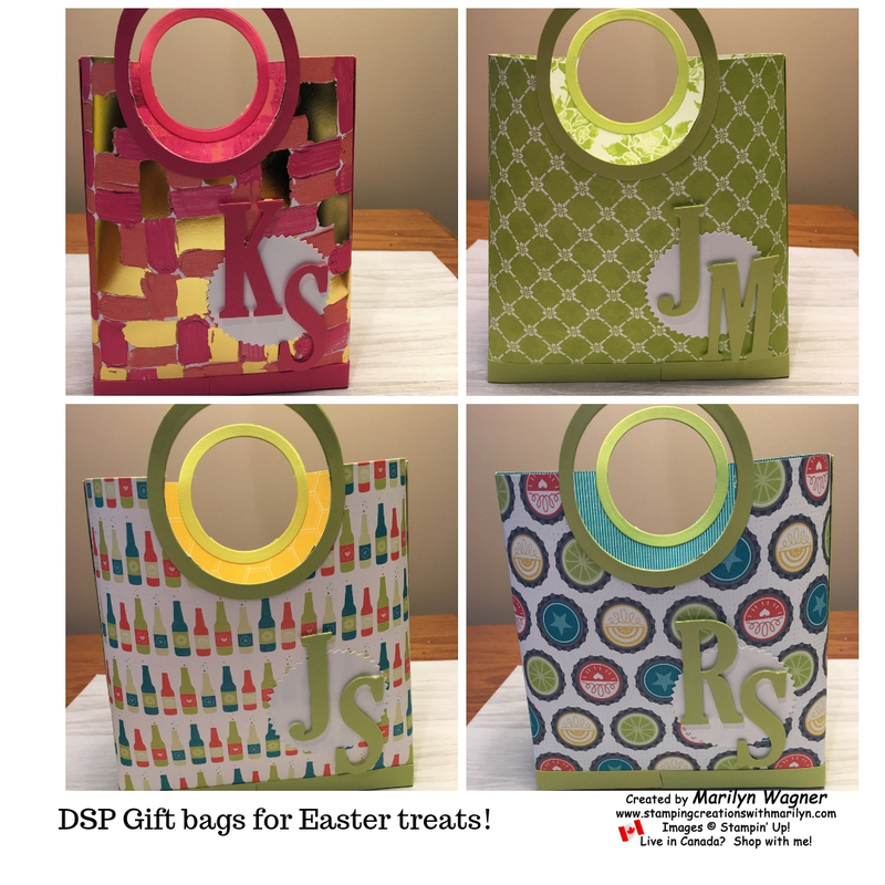 Dsp gift bags for easter treats