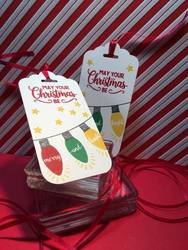 Making christmas bright tag