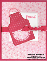 Apron of love friend apron watermark