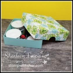 Painted seasons tealight box pool p open