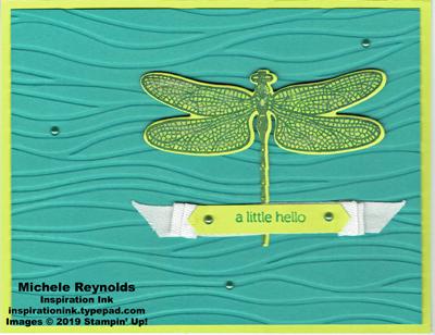 Dragonfly dreams wavy note watermark