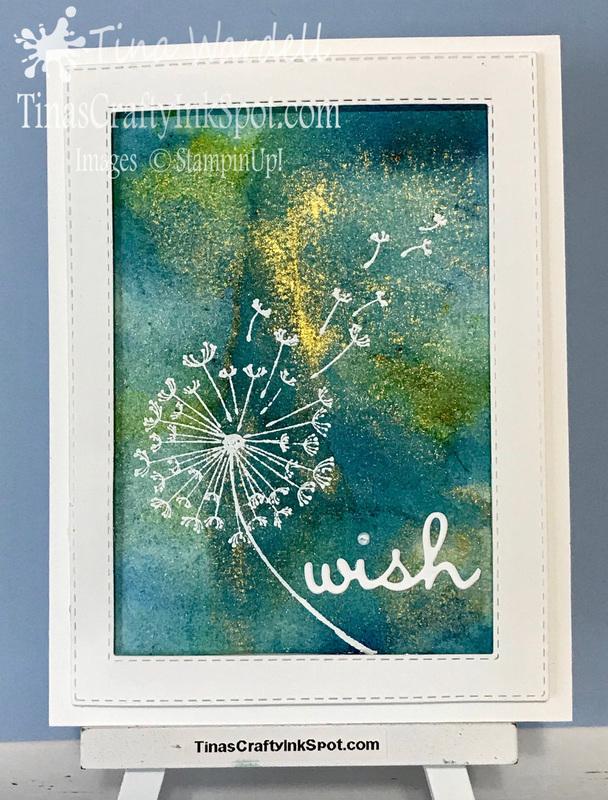 Golden dandelion wish