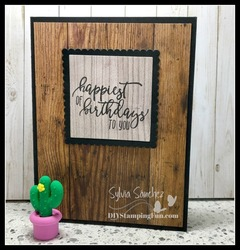 Z wood texture birthday card