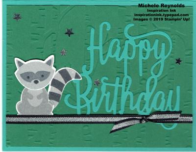 Foxy friends raccoon birthday watermark