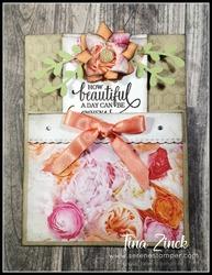 Enjoy life bookmark card tina zinck serene stamper