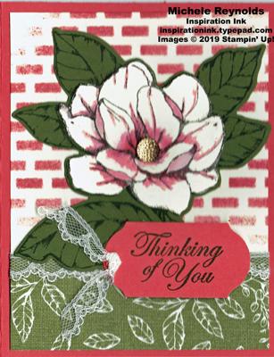 Good morning magnolia terracotta wall flower watermark