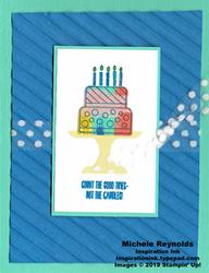 Piece of cake tie dye cake watermark